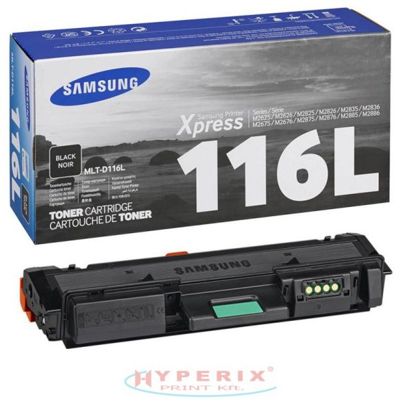 Samsung MLT-D116L toner, Bk, 3K, eredeti