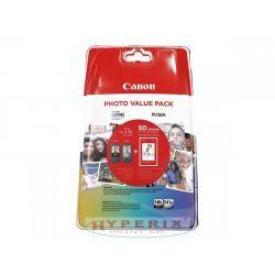 CANON PG540XL+CL541XL multipack + 50db 10x15cm /GP501/ fotópapír csomag /eredeti/ (5222B013)
